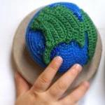 The Blue Planet - Crochet Brooch