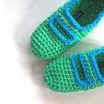 Crochet Mary Jane Slippers for Wome..
